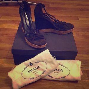 PRADA Wedges size 36, brand spanking new!!!!!!